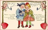 Thumbnail Vintage Valentines Day Children Image